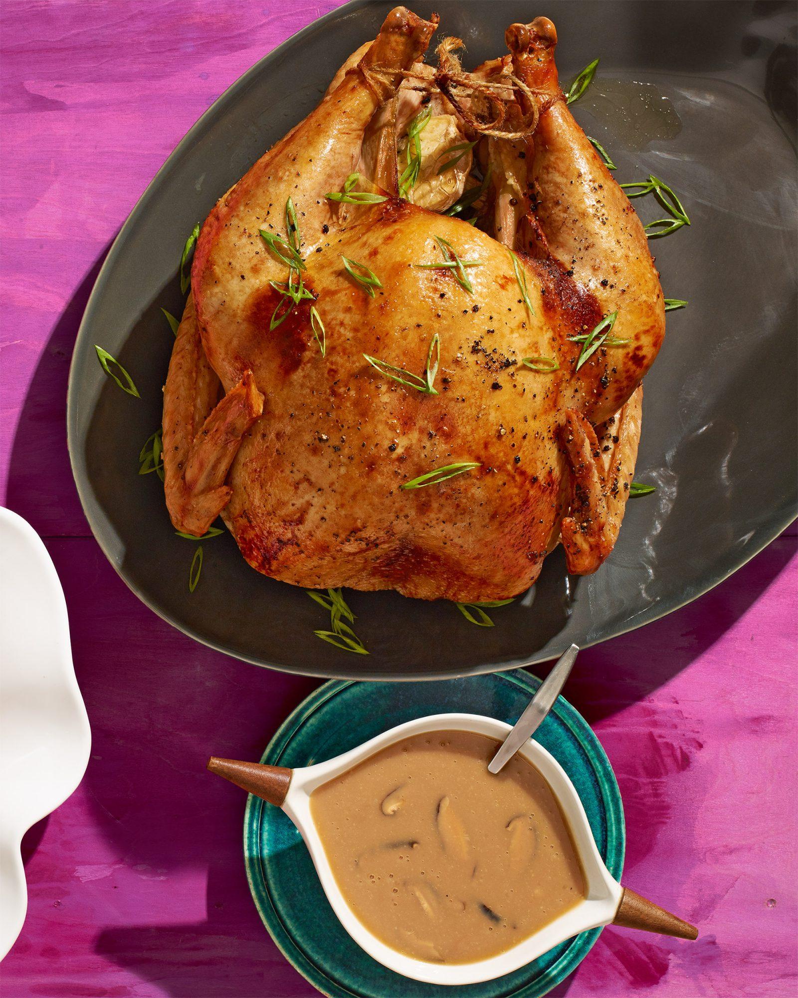 Miso-Butter Turkey with Shiitake Gravy