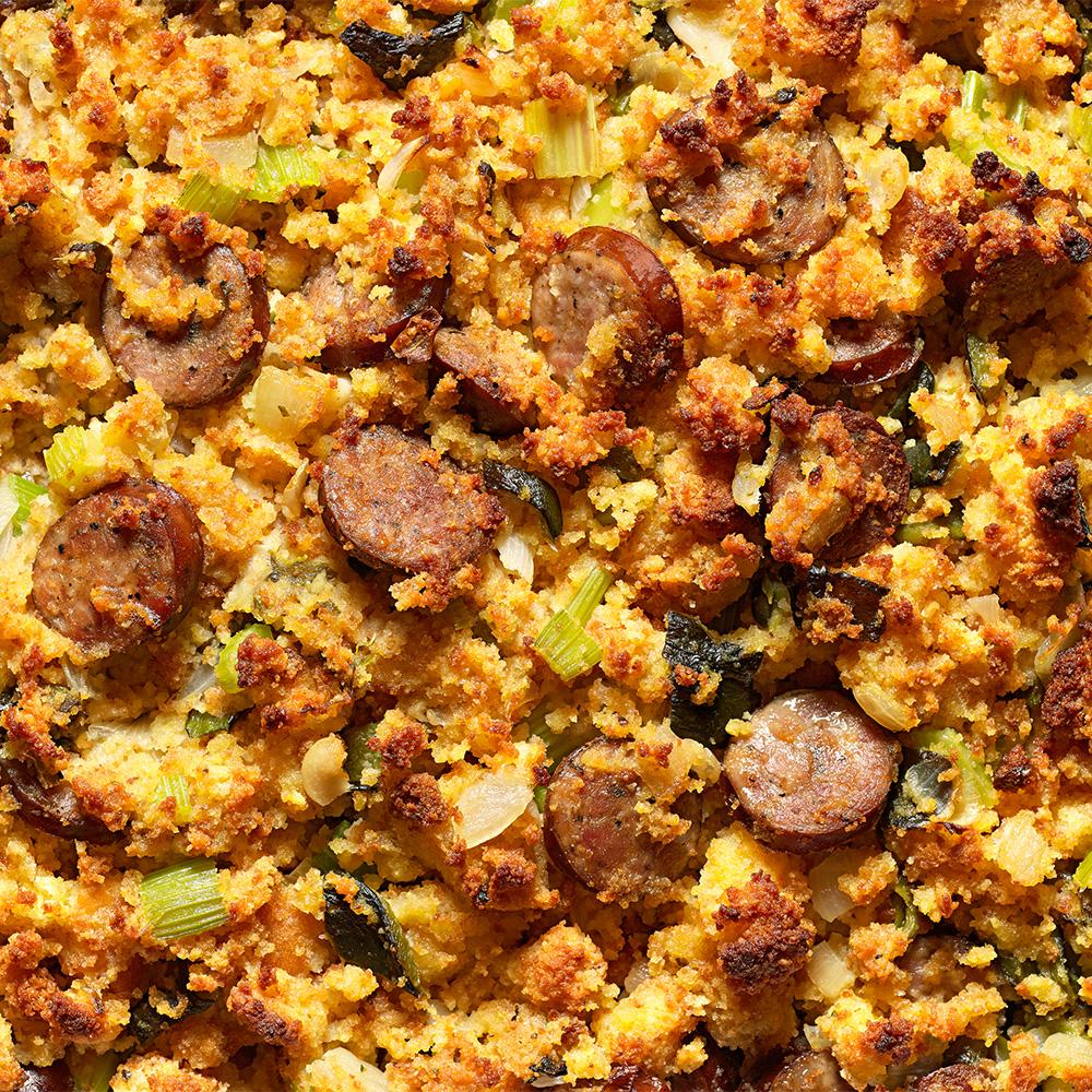 Spicy Cornbread & Sausage Stuffing