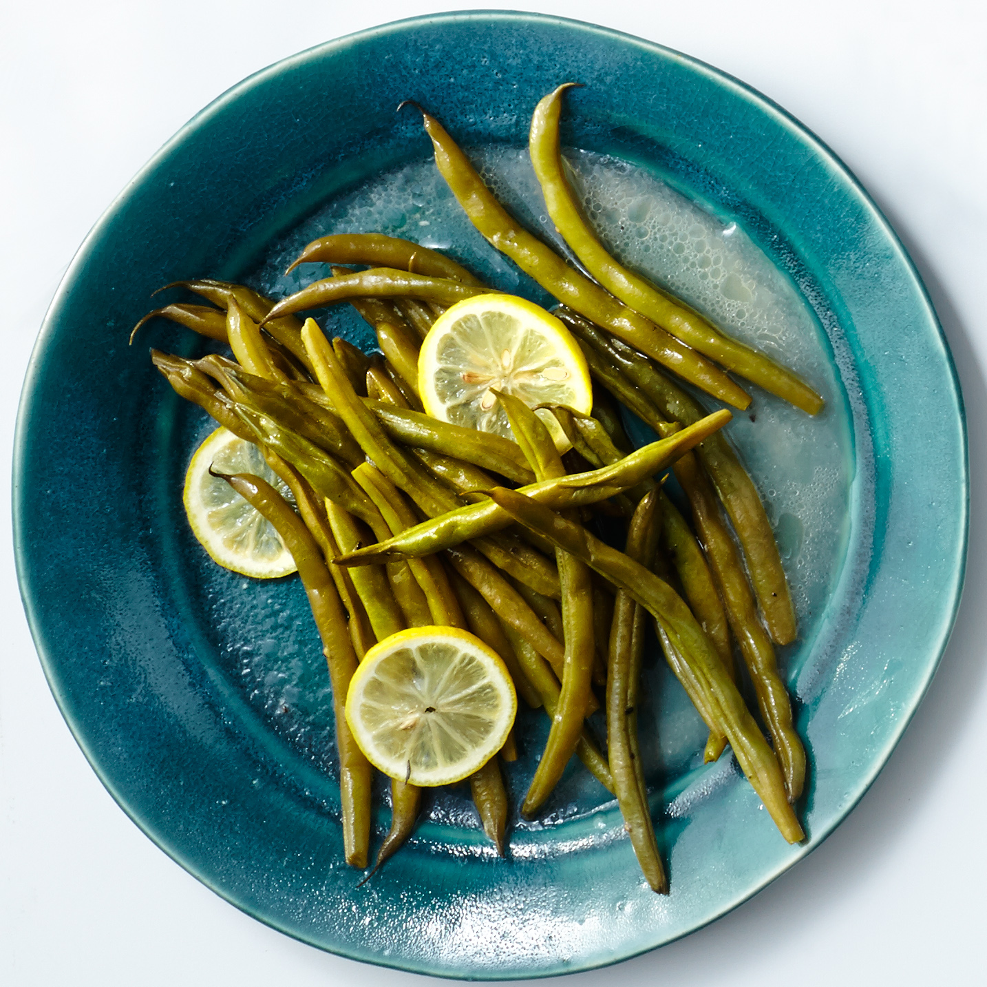 Butter-Poached Green Beans with Lemon & Thyme