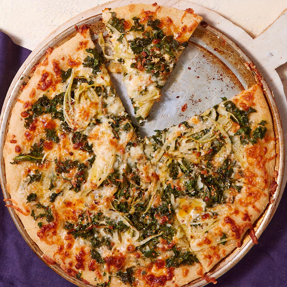 Cheesy Kale Pizza