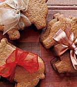Cookies wrapped in bow