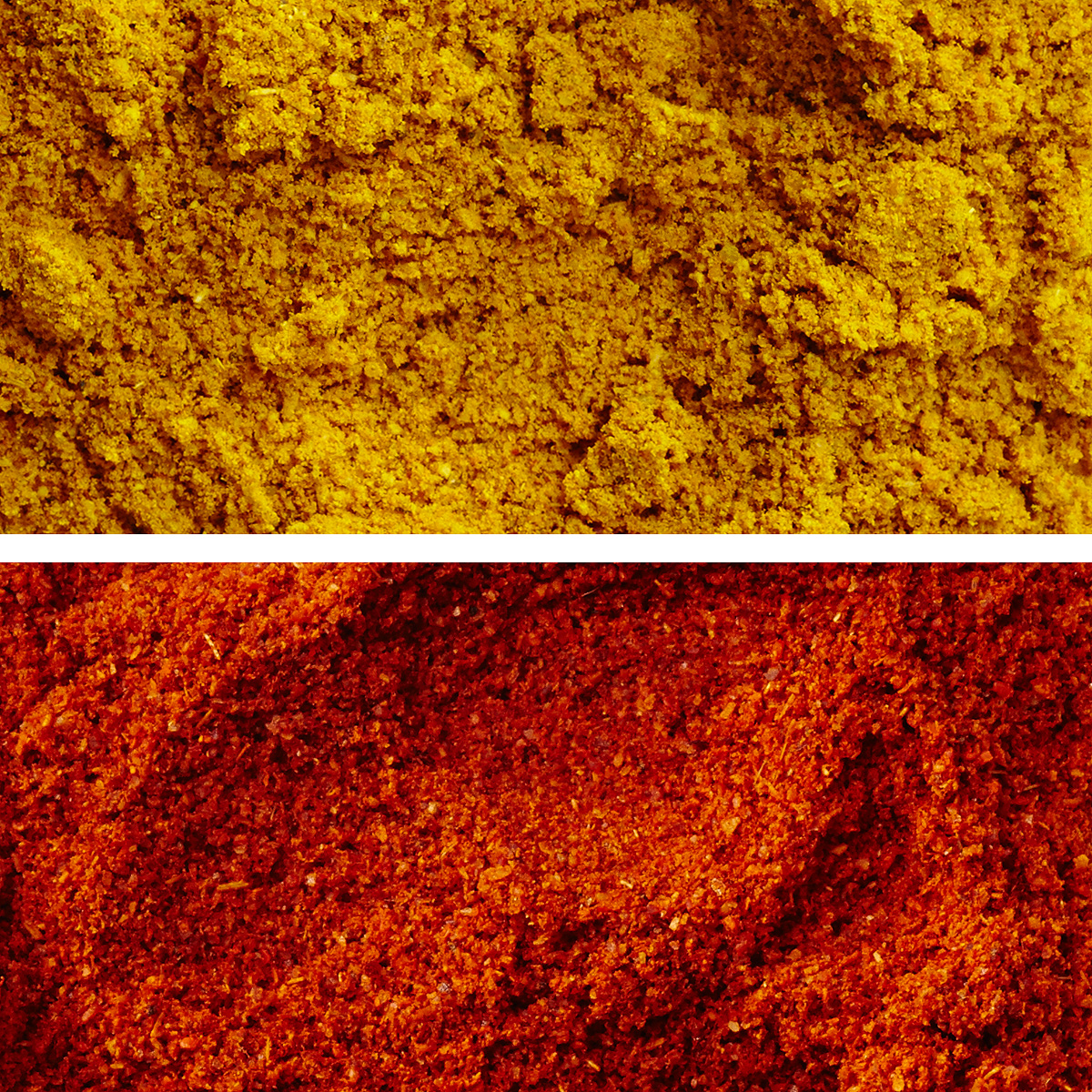 curry and cayenne spices