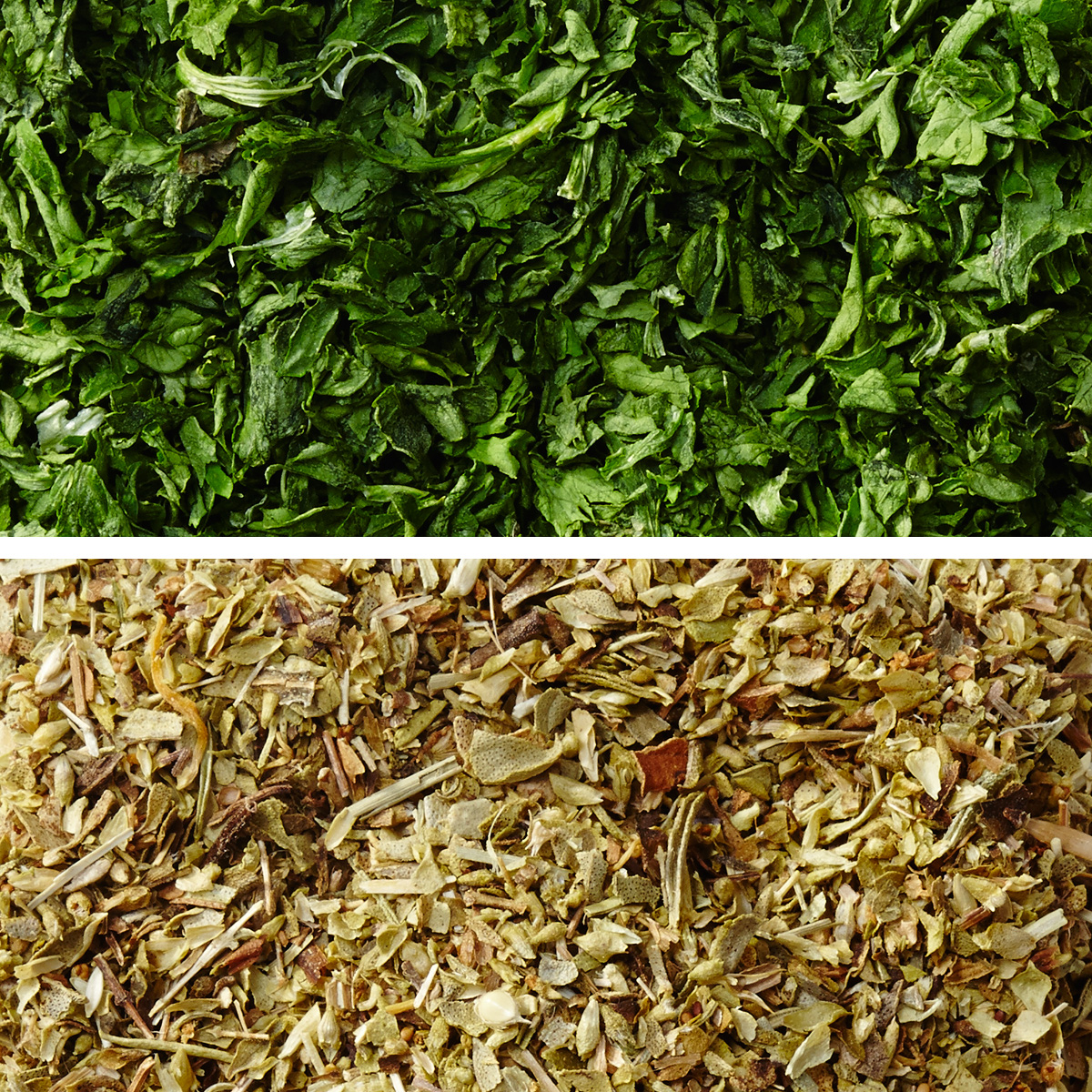 oregano and parsley dried herbs
