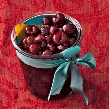 Quick Brandied Cherries