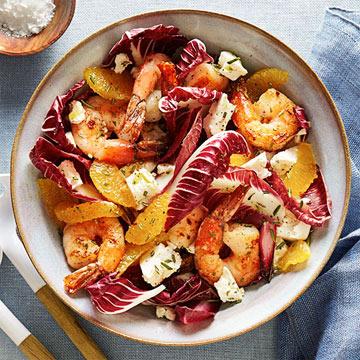 Shrimp & Radicchio Salad