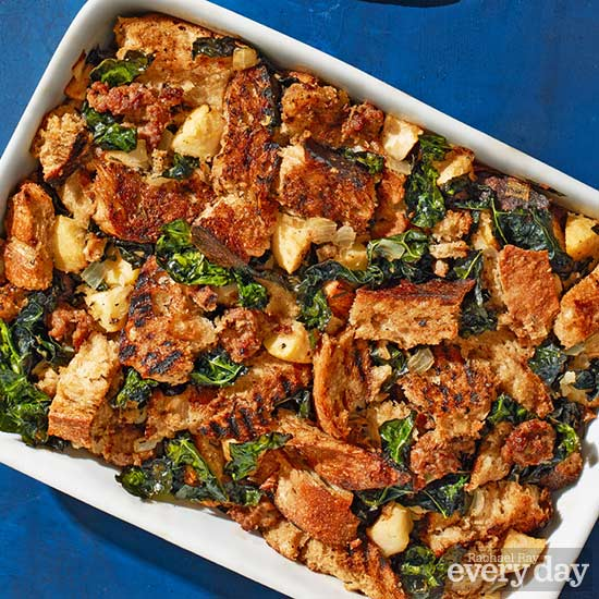 Sourdough Stuffing with Kale