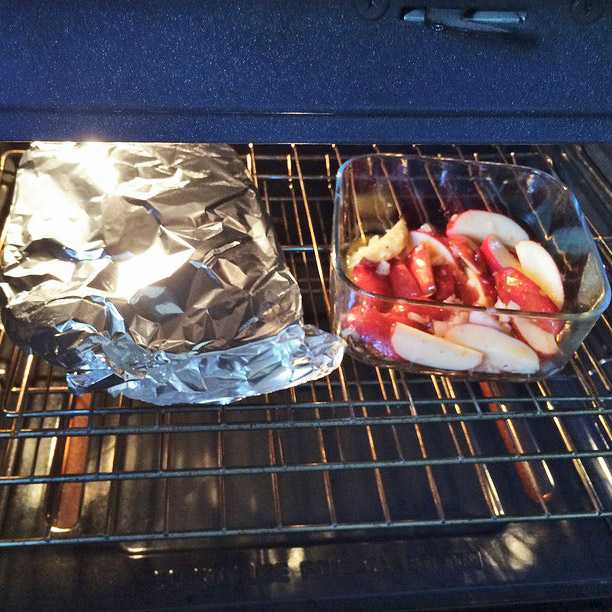 Cheeseburger Meat Loaf Pan Apples Oven