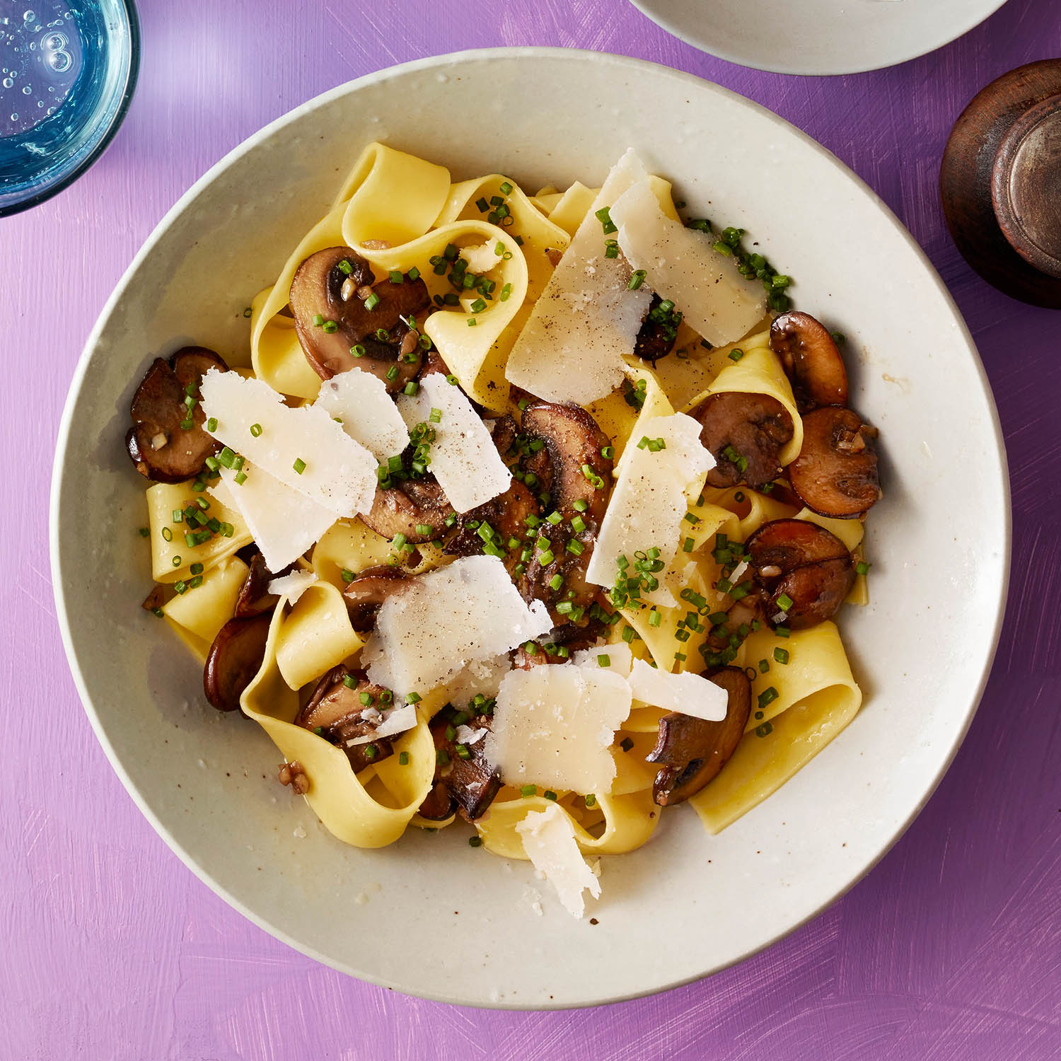 Pappardelle with Cremini & Parmesan