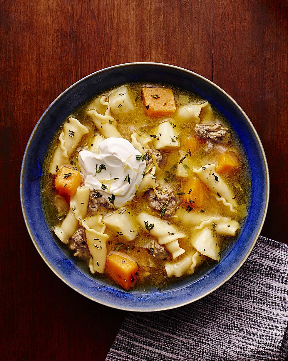 Rosemary Butternut Squash Chicken Soup