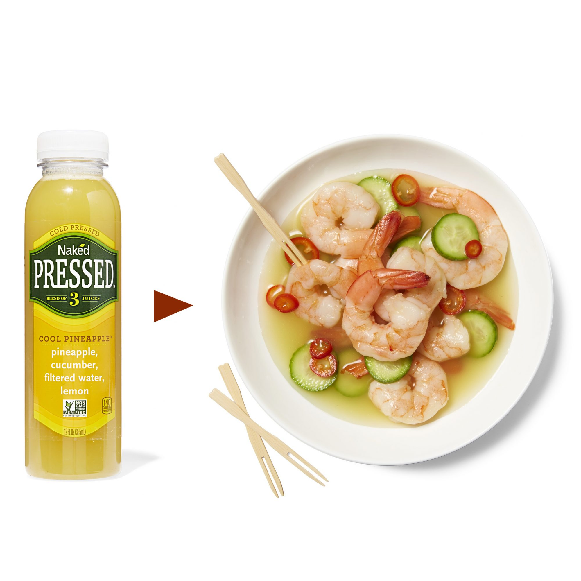spicy pineapple marinated shrimp