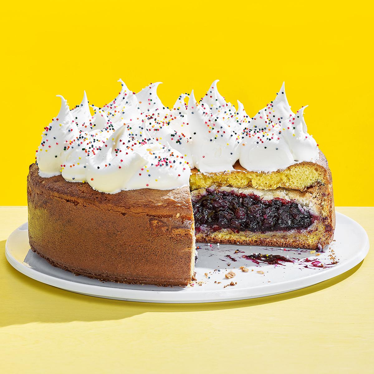 Blueberry Pie Caken