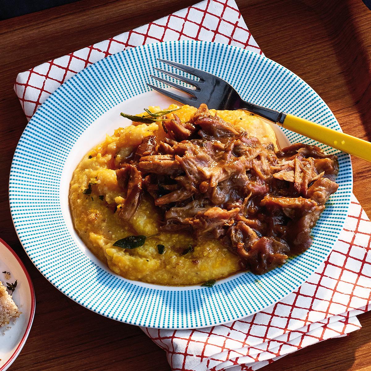 five ingredient cider braised pork ragu