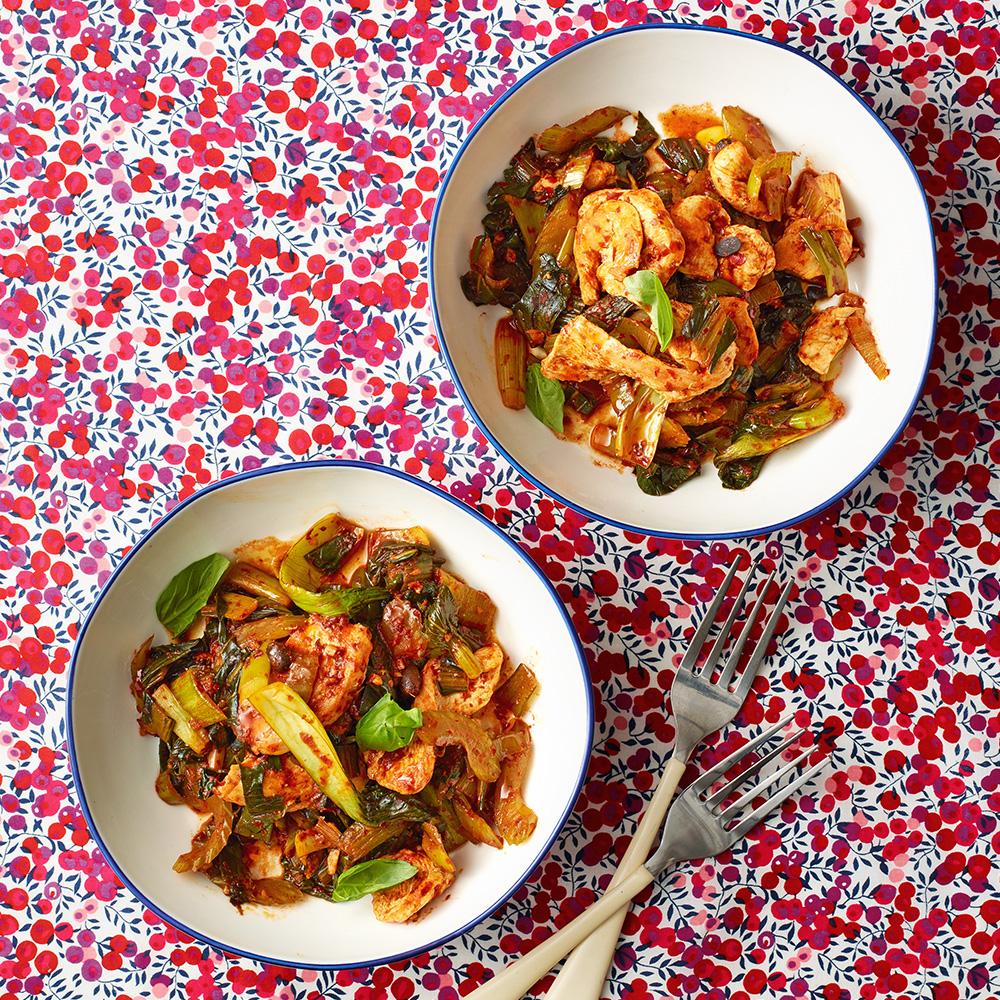 Chicken, Celery & Ginger Stir-Fry