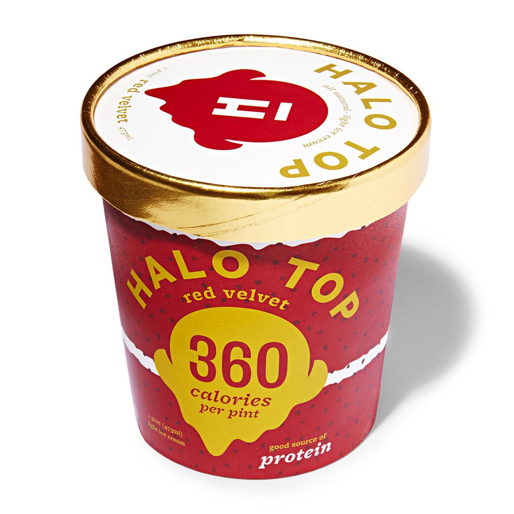 Red Velvet Halo Top Ice Cream