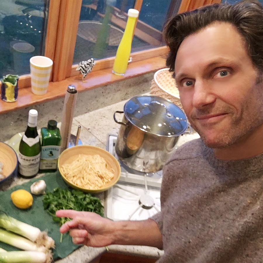 Tony Goldwyn cooking