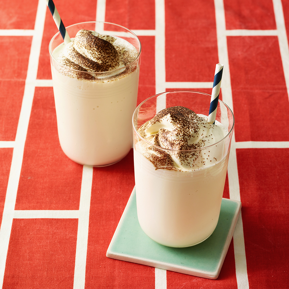 Whiskey-Spiked Vanilla Milk Shakes