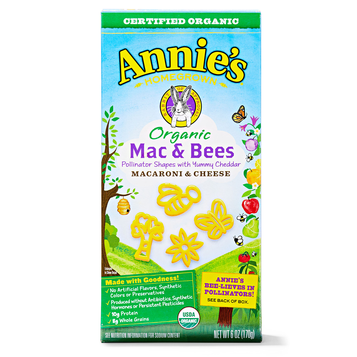 annies organic mac and bees