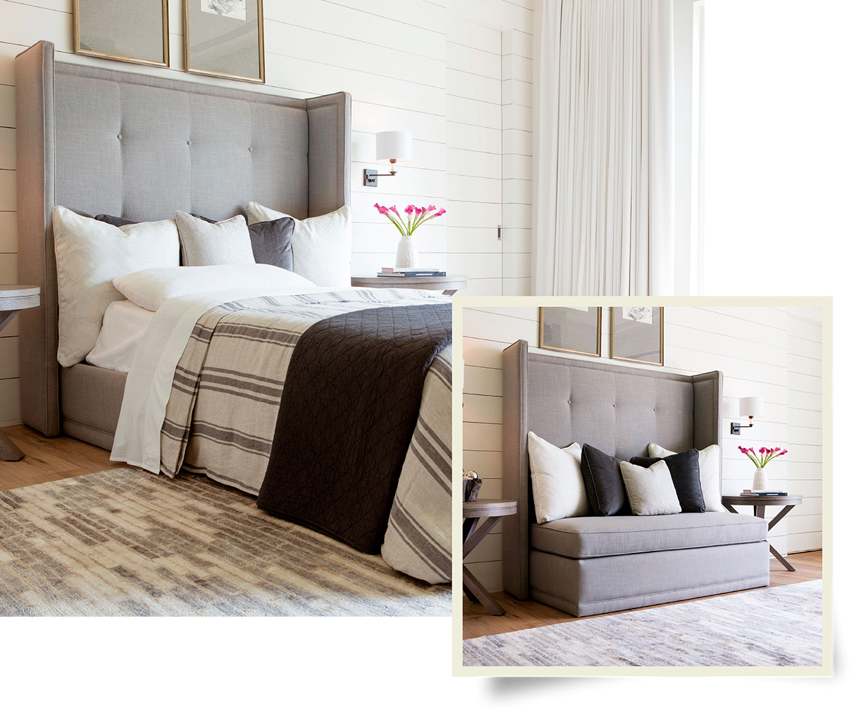 bedroom bed furniture sofa pillows