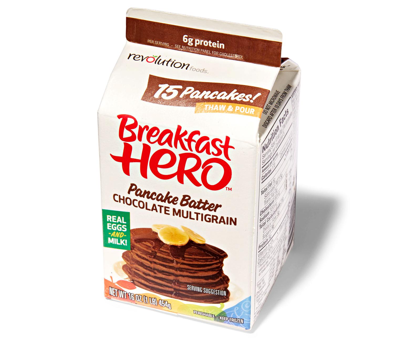 breakfast hero chocolate multigrain pancake batter