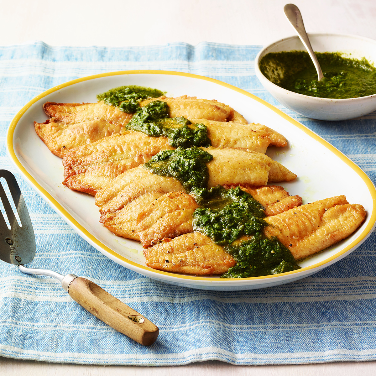 curried tilapia with cilantro sauce