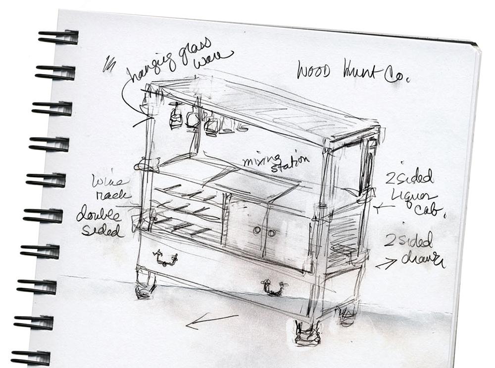 notepad sketch furniture design rachael ray
