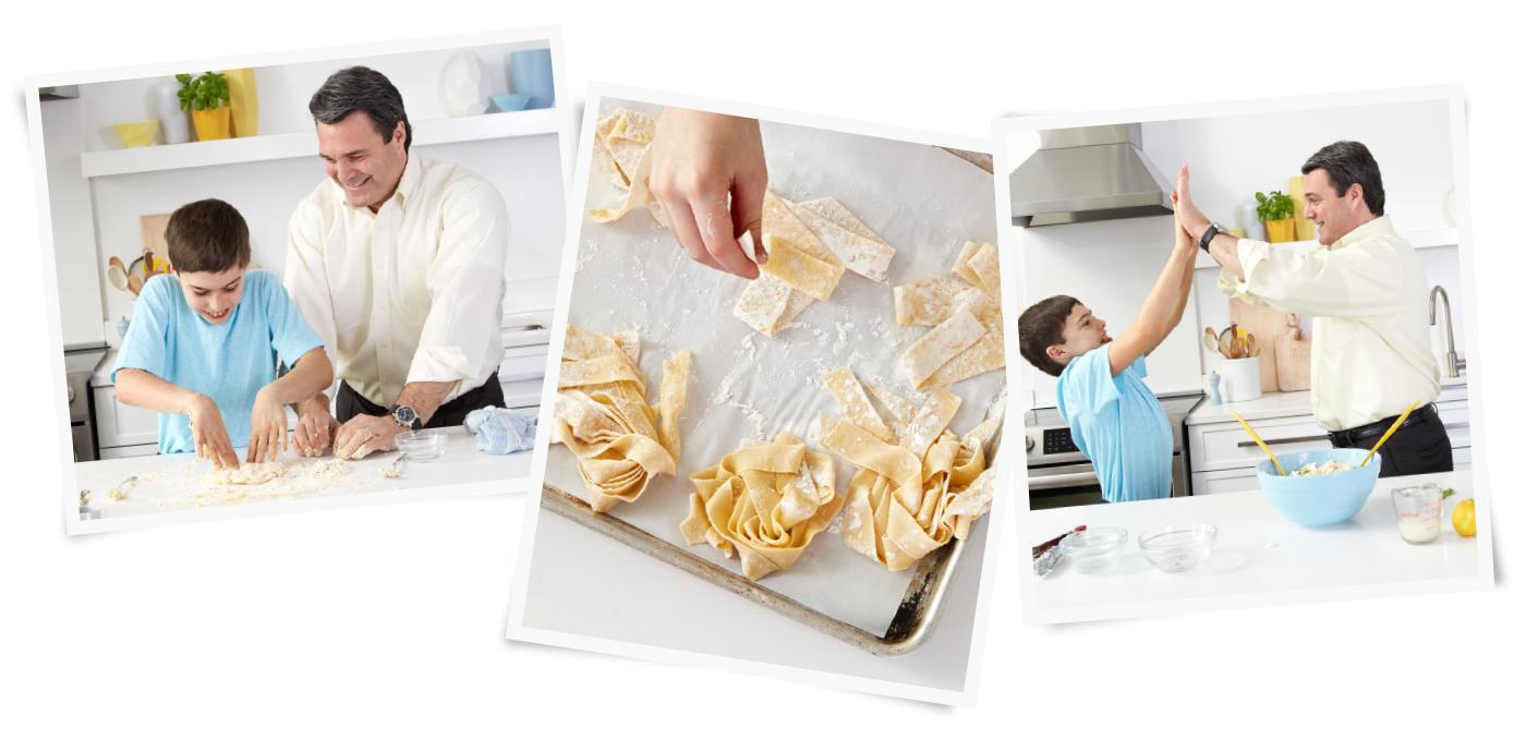 robert and bo cancro making pasta
