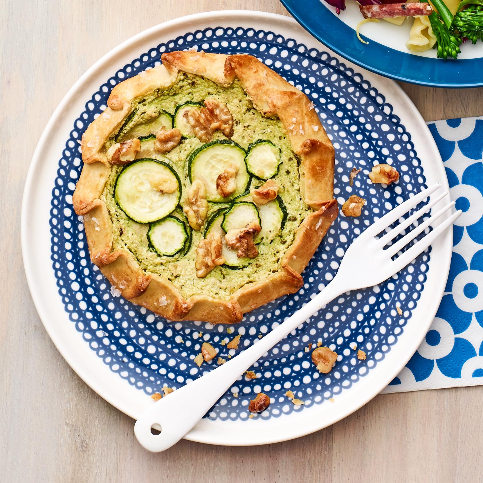 zucchini & ricotta tartlets