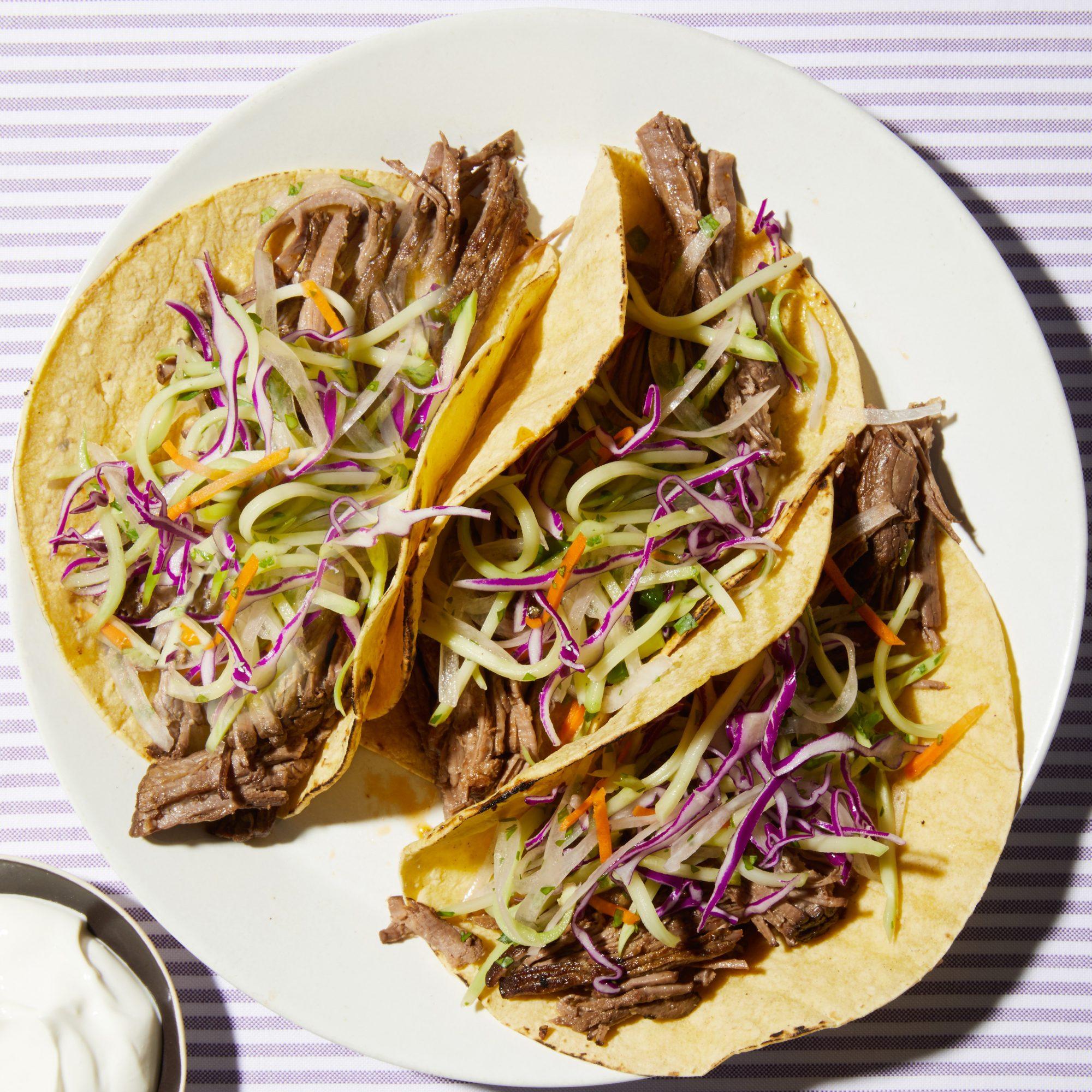beef broccoli tacos