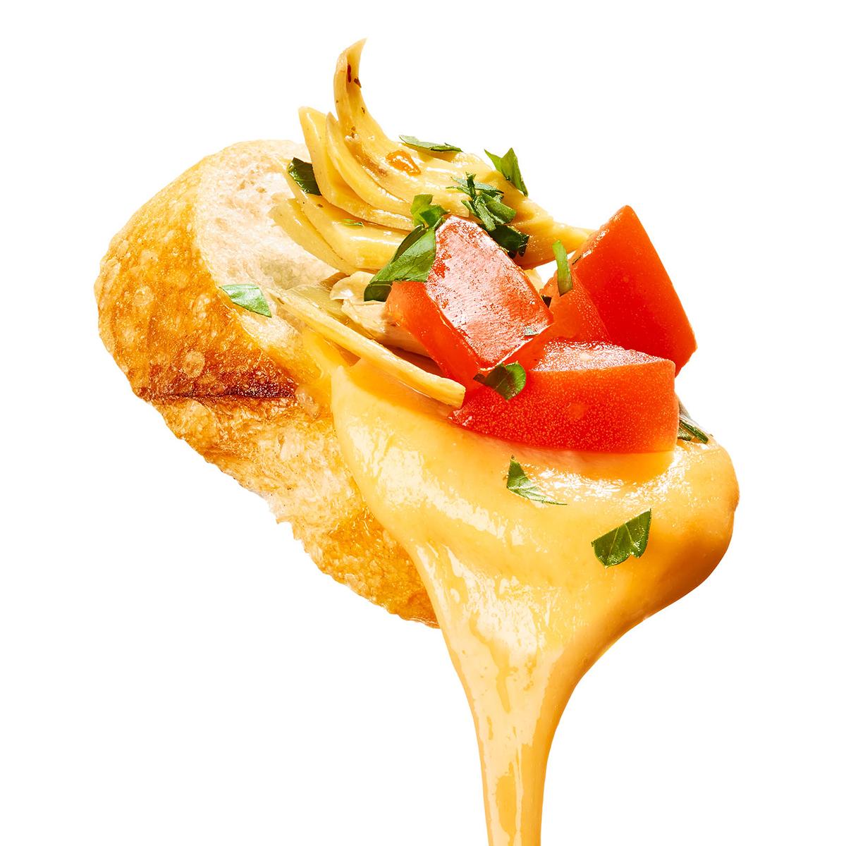 artichoke dip queso
