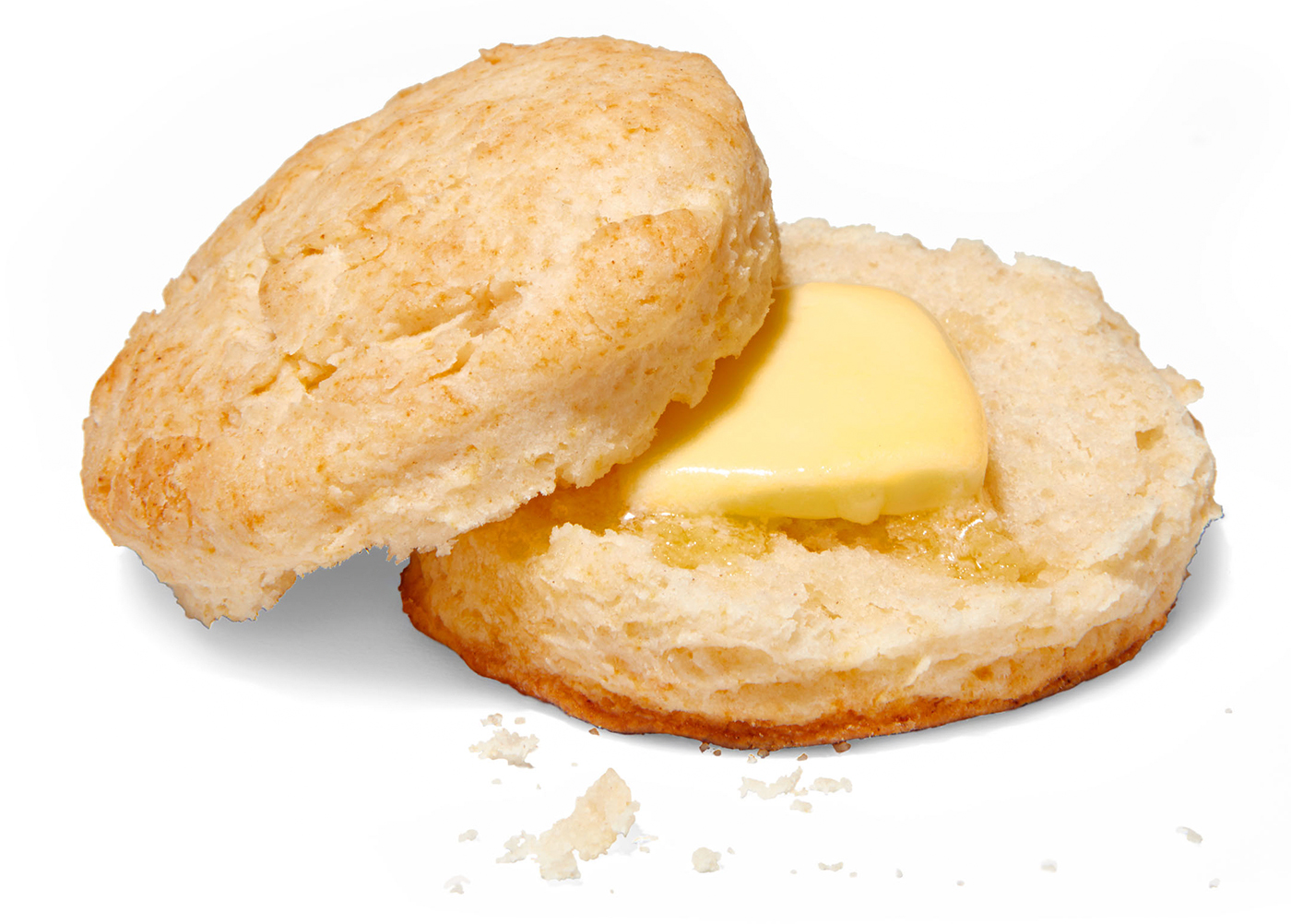 sliced biscuit with butter