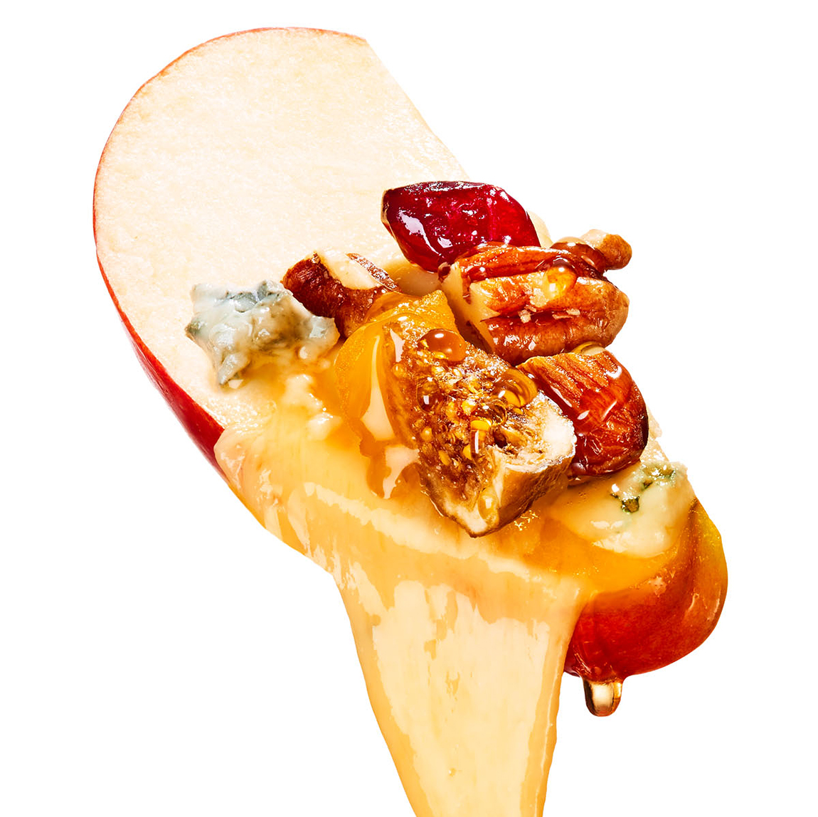 fruit nuts queso