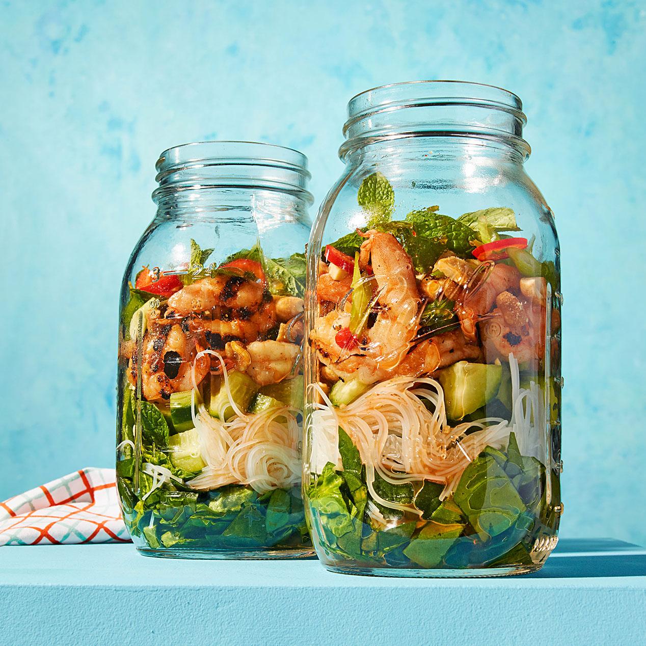 Grilled Shrimp & Rice-Noodle Salad