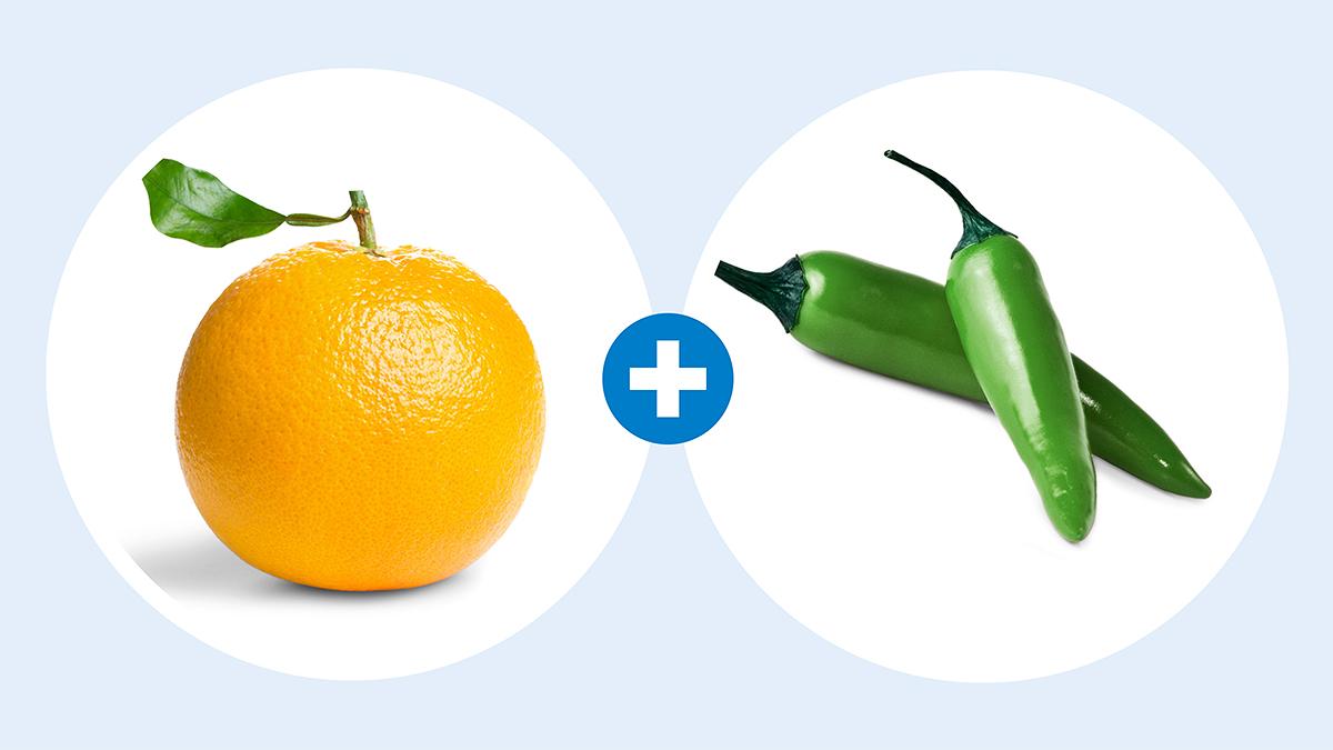 orange and serrano chili simple syrup