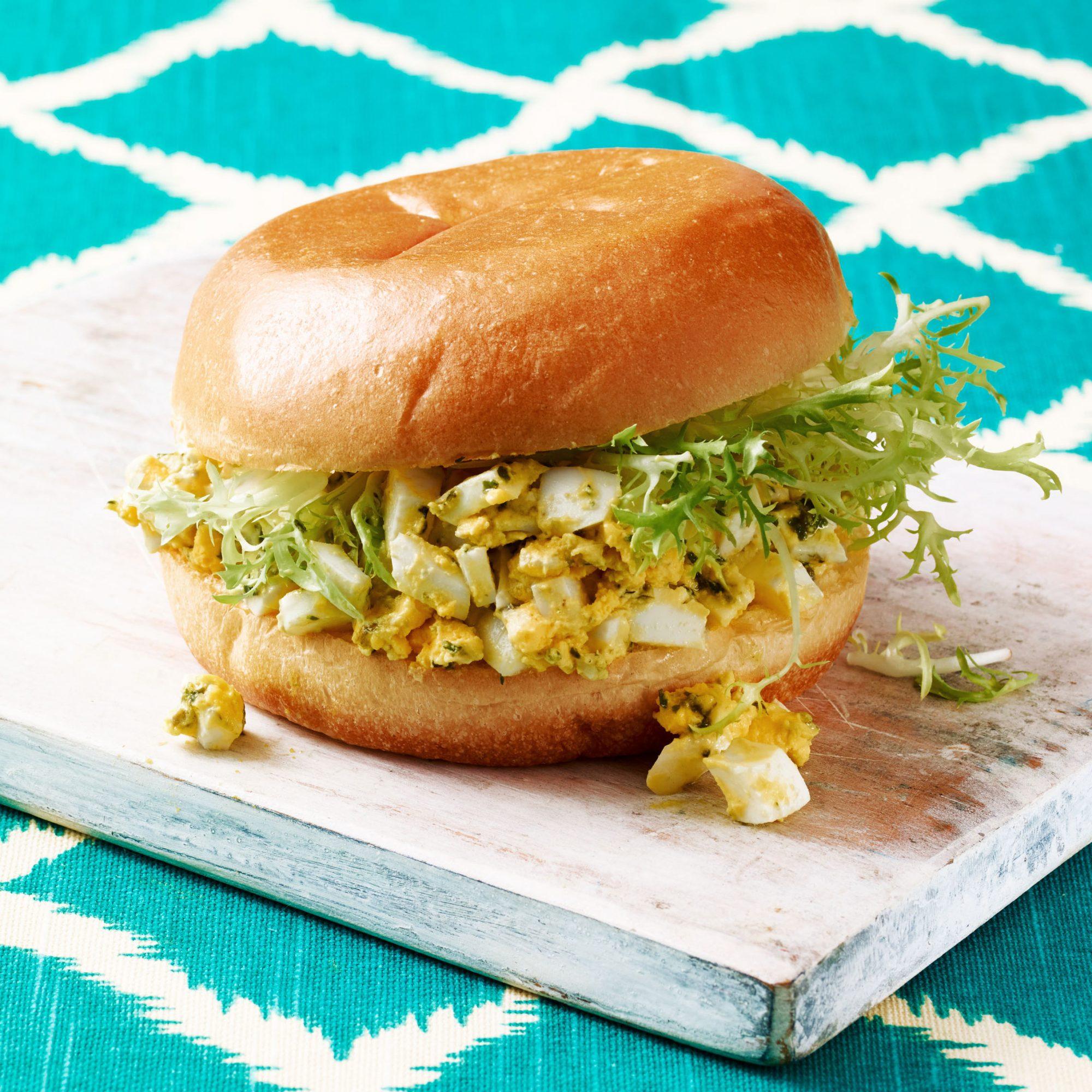 pesto egg salad sandwiches
