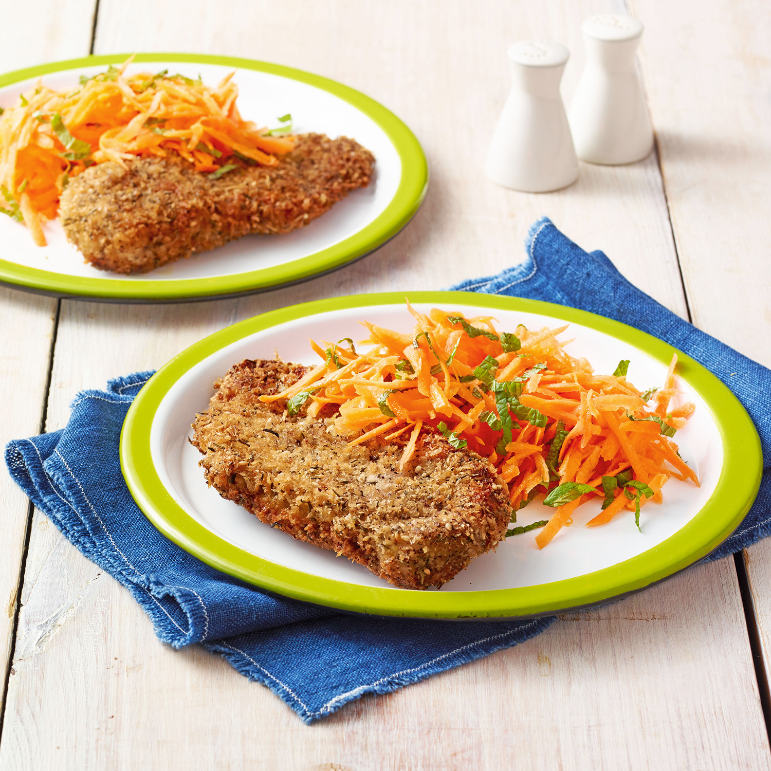 za'atar chicken with carrot salad