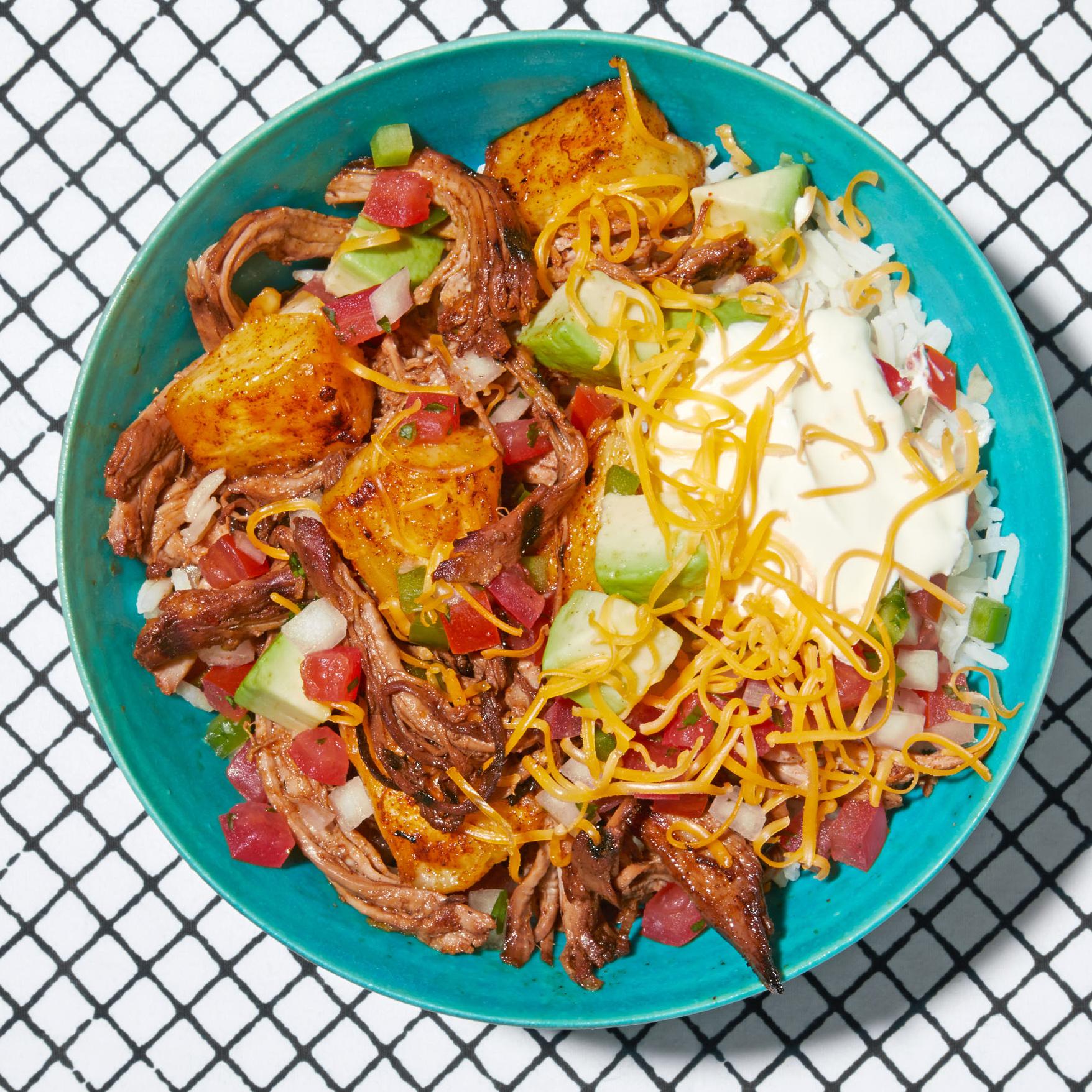 al pastor burrito bowl