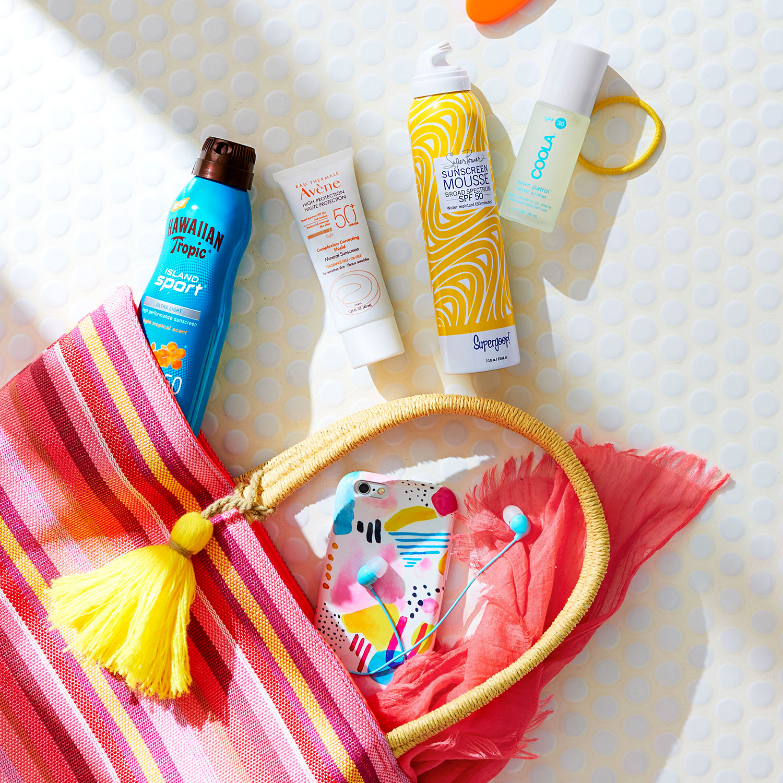 beach bag sunblock products