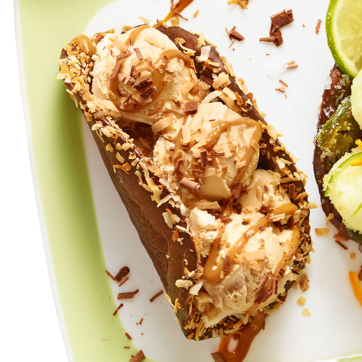Dulce de Leche Ice Cream Taco