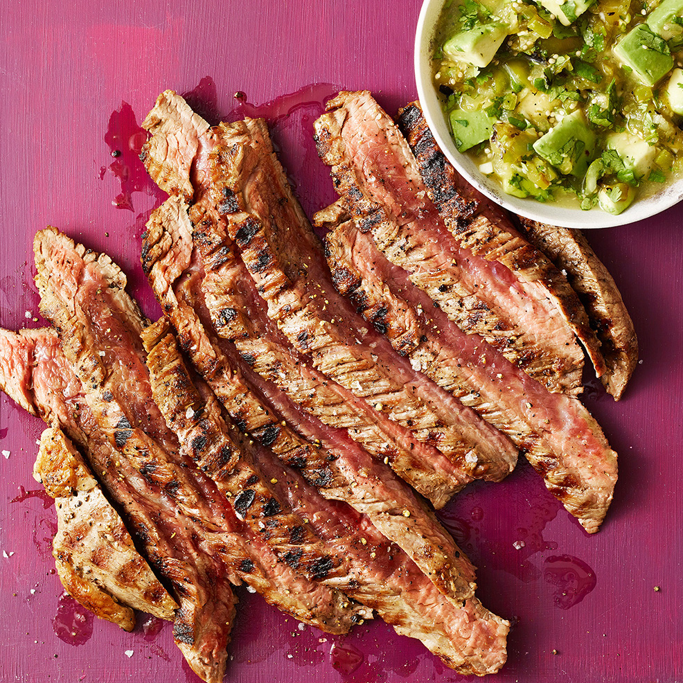 grilled steak avocado salsa verde