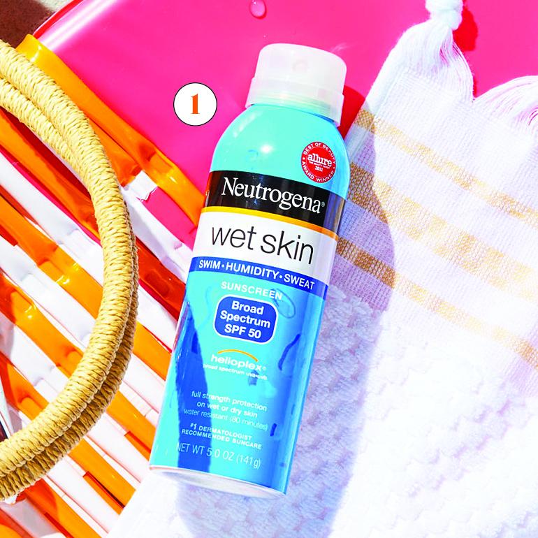 neutrogena wet skin spray