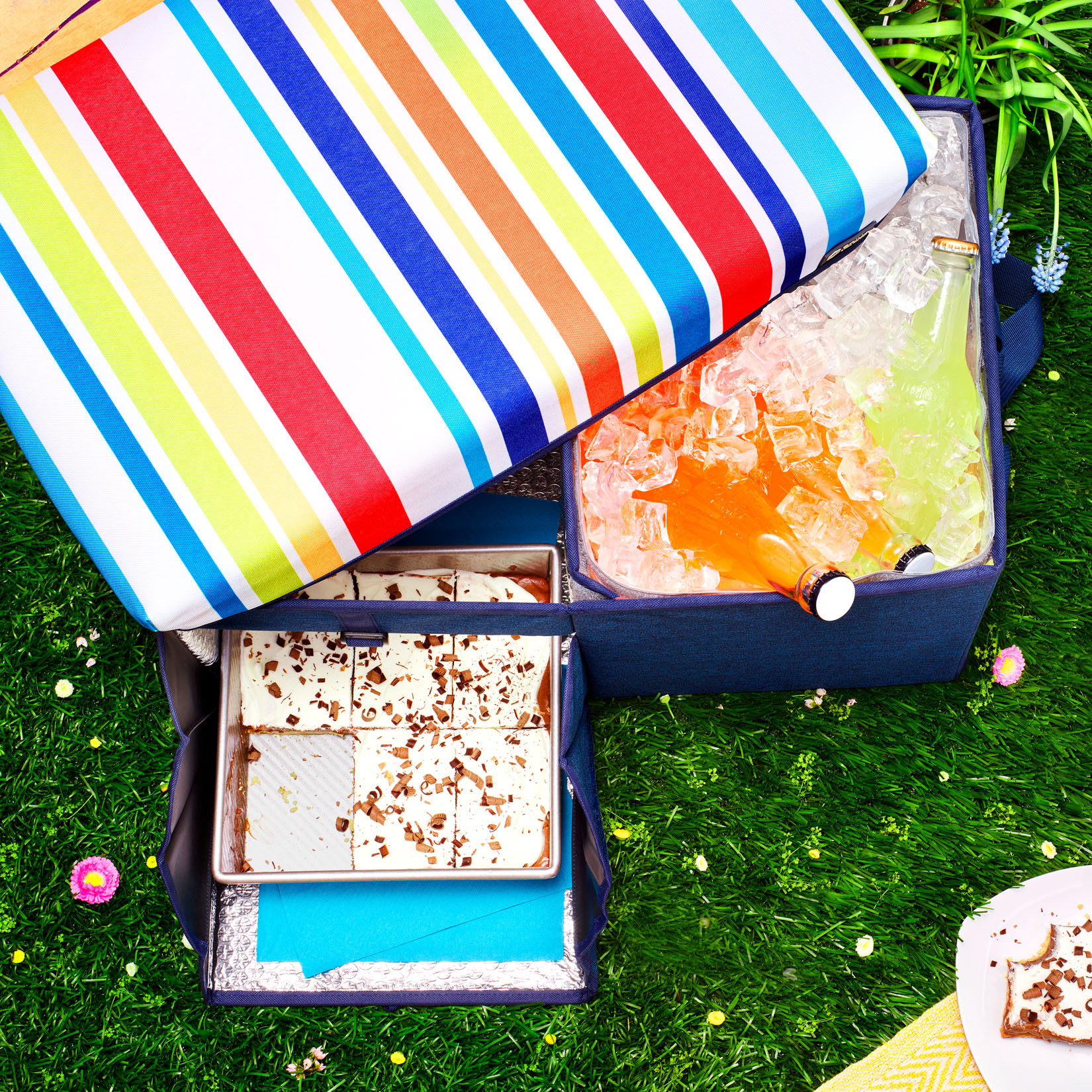 Picnic Time Ottoman Cooler with Trolley