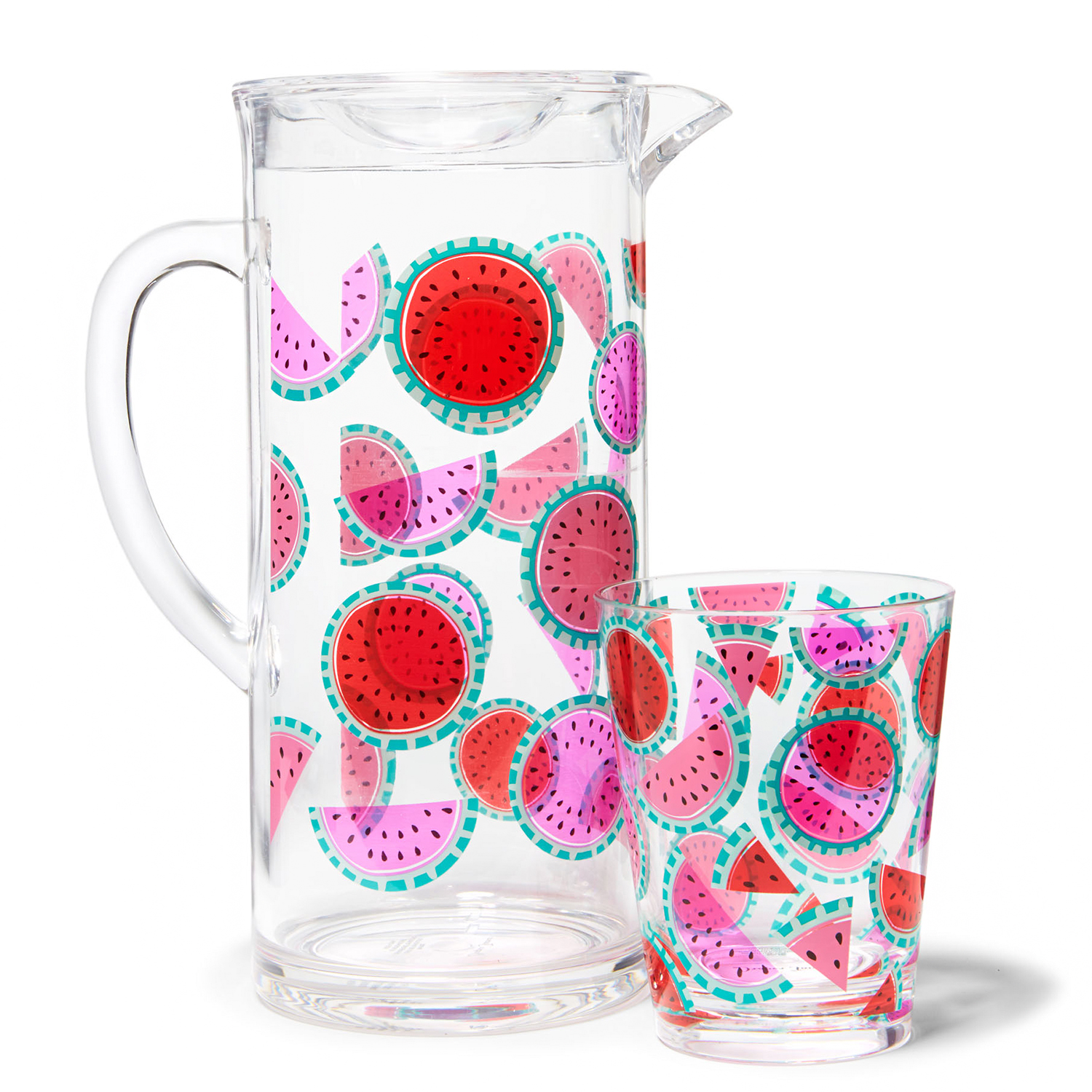 watermelon tumbler and pitcher set