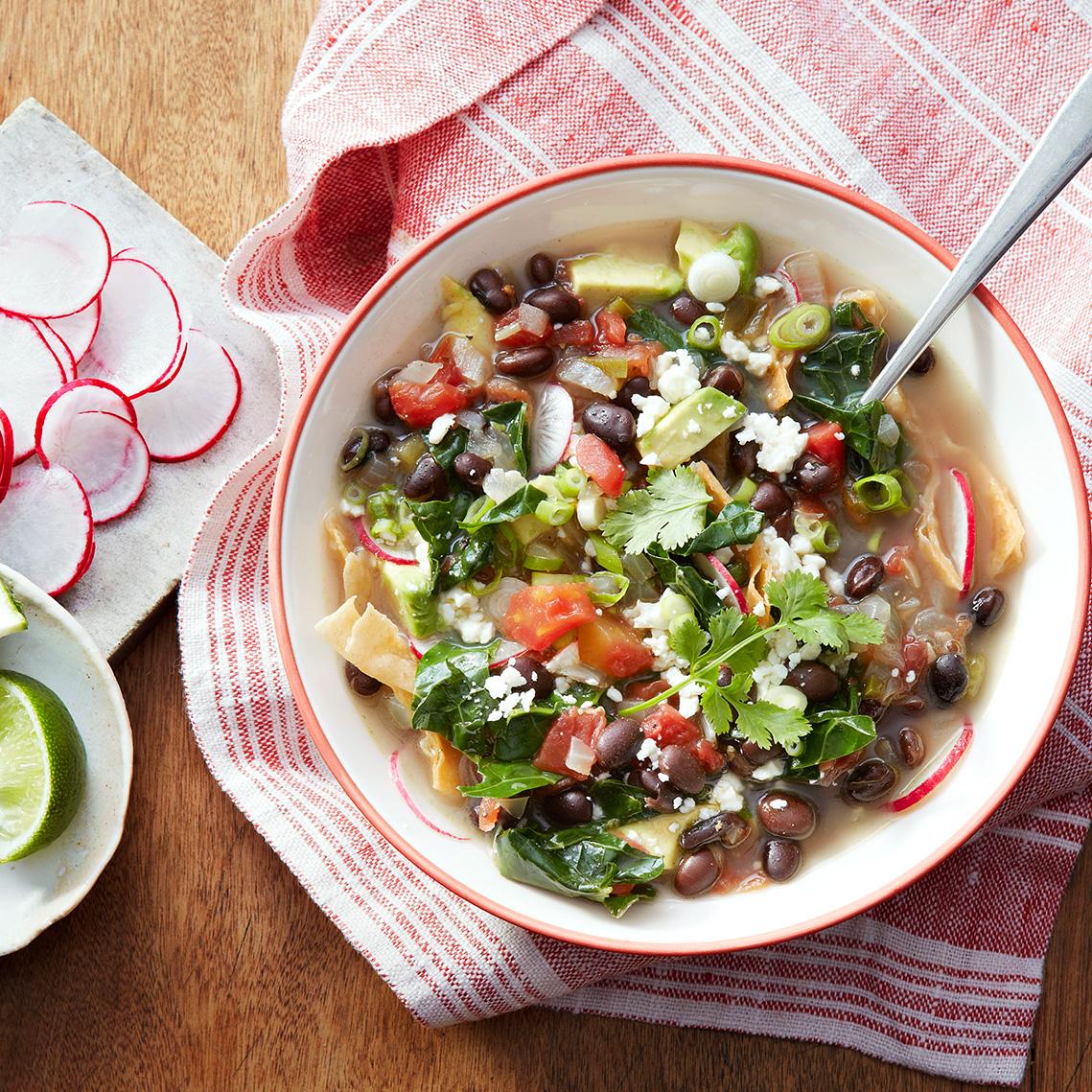 Black Bean & Kale Tortilla Soup