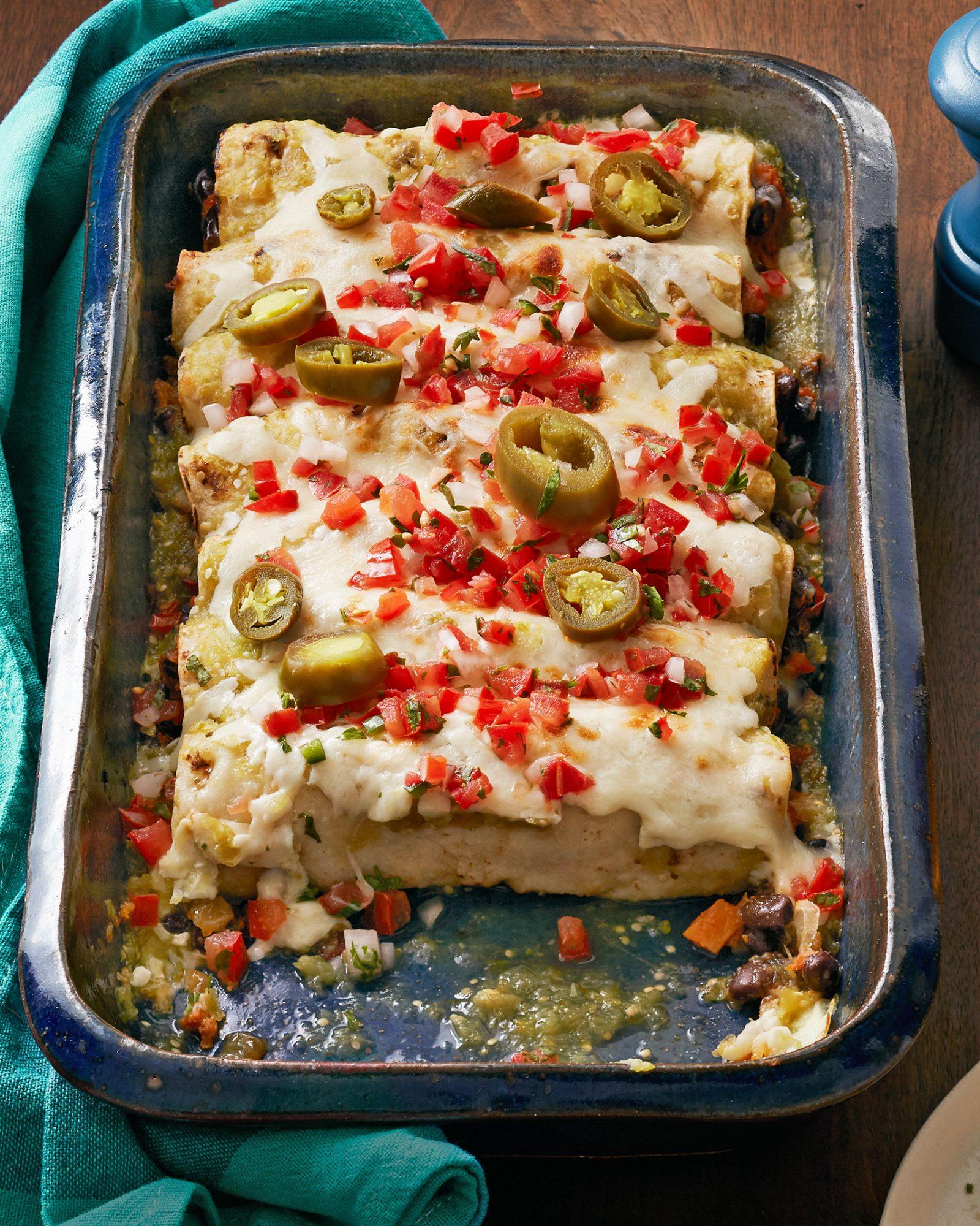 Sweet Potato & Black Bean Enchiladas