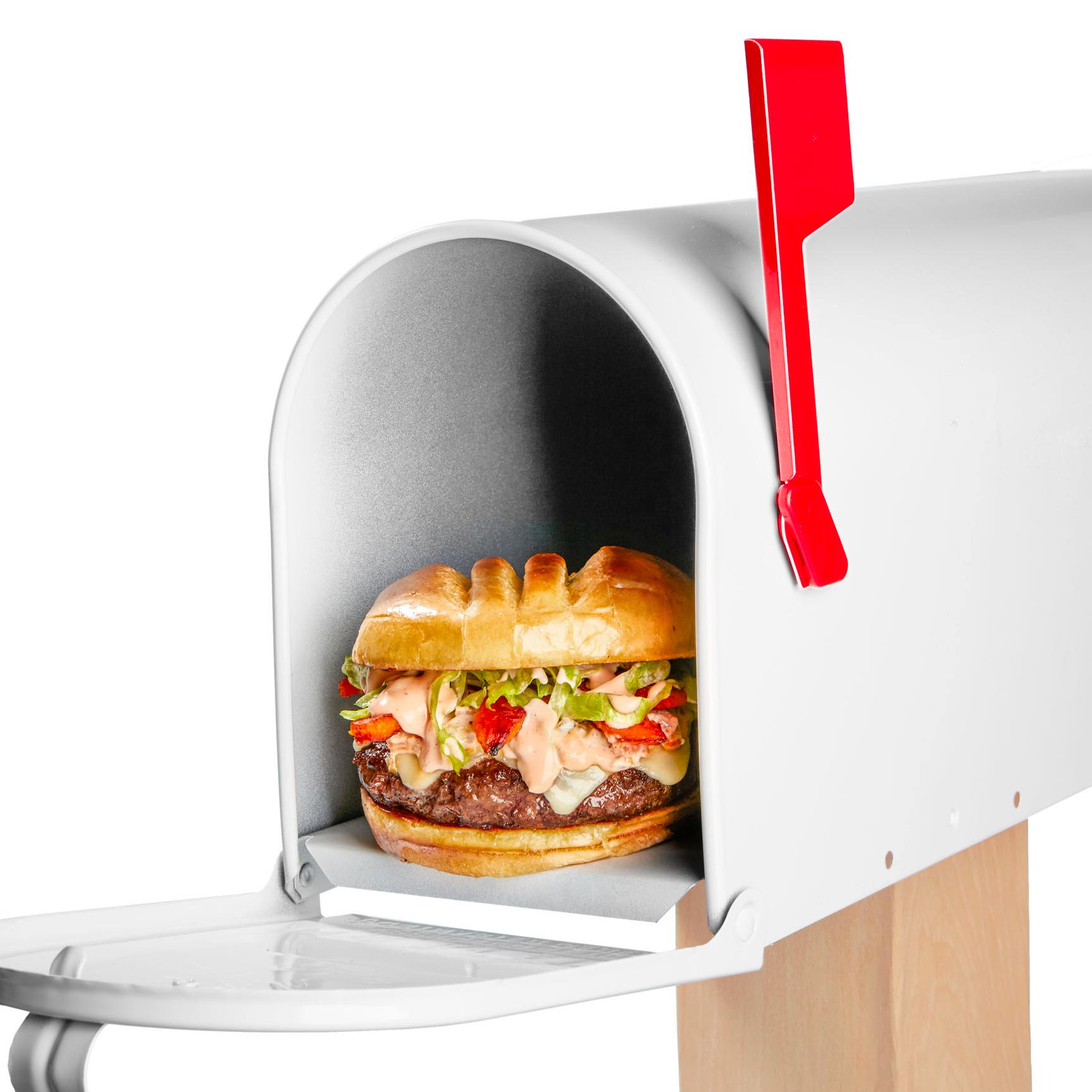 Burger in mailbox