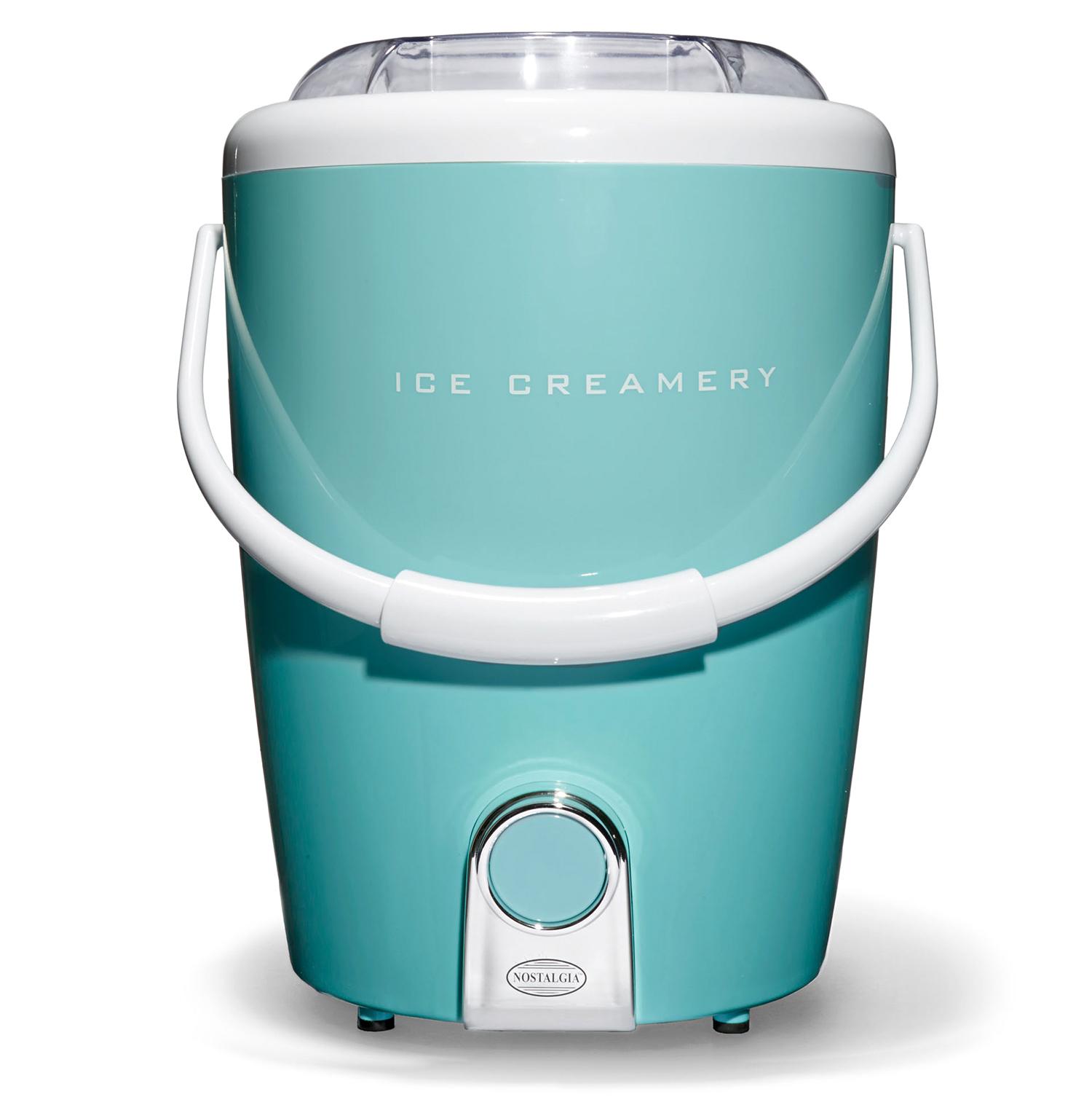 nostalgia electric 4-quart bottom drive gourmet ice creamery