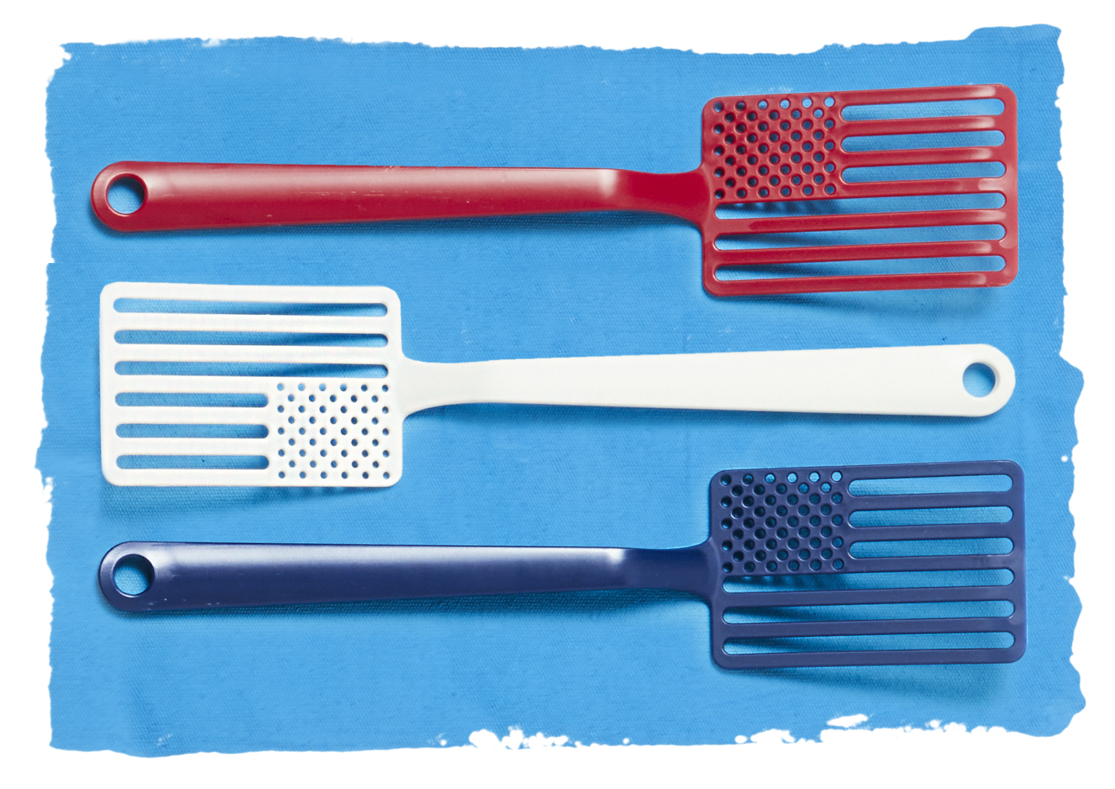 star spangled spatulas on blue