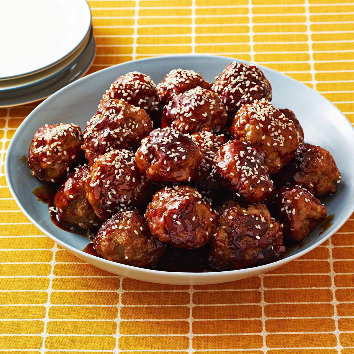 sweet chili pork meatballs