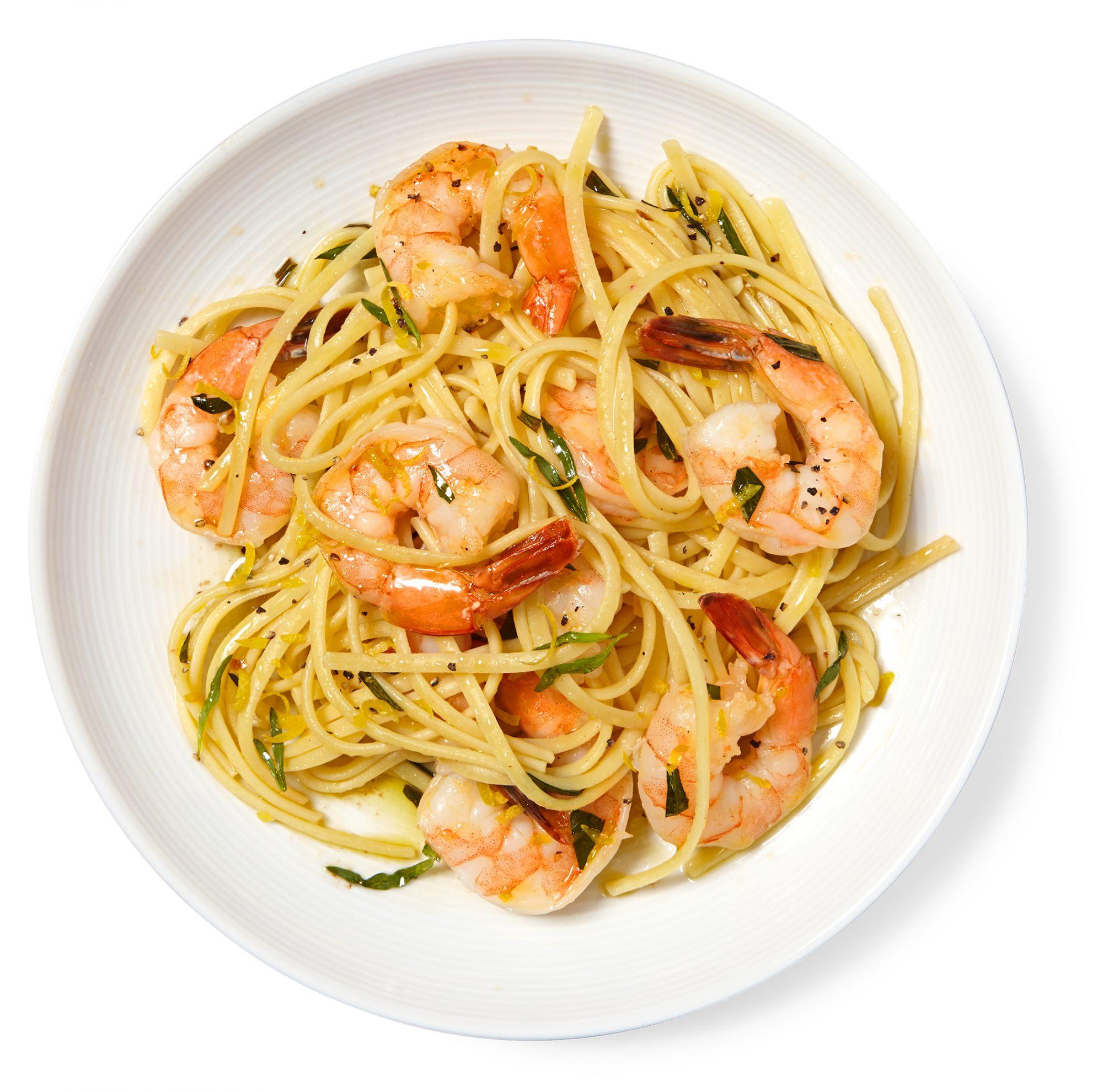 Lemon-Tarragon Shrimp Pasta