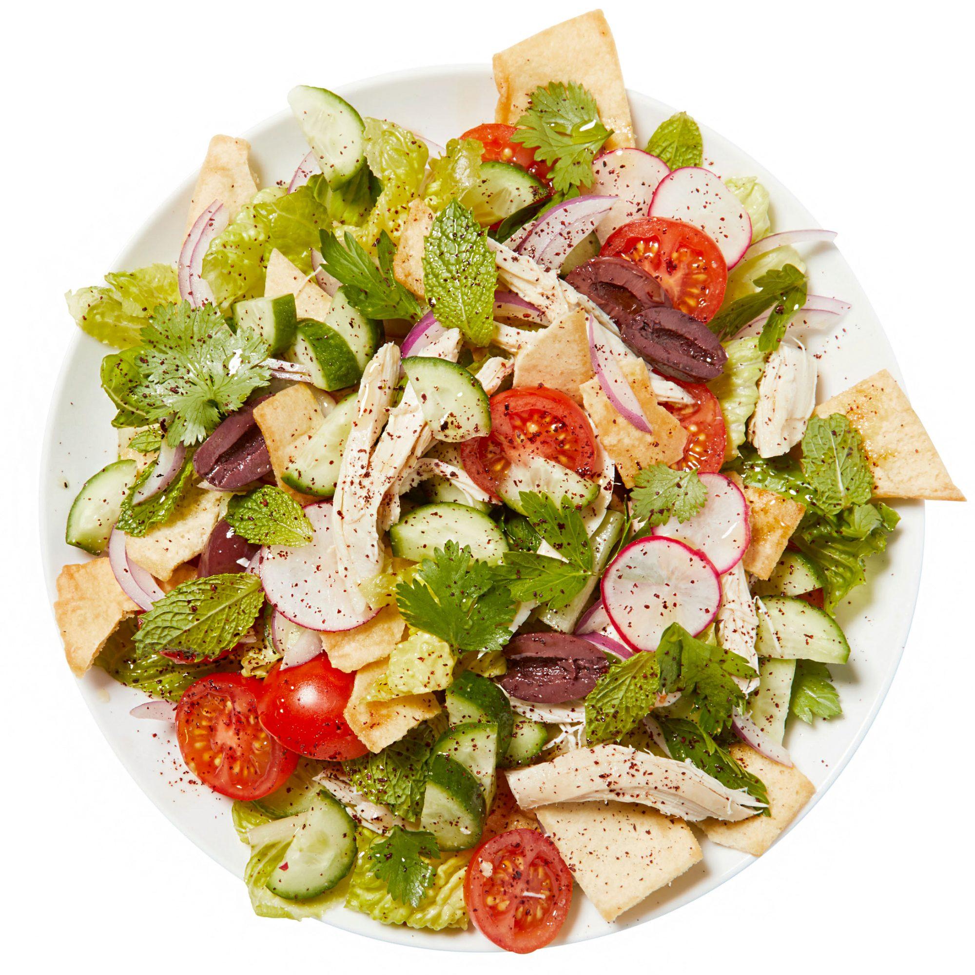 chicken fattoush salad